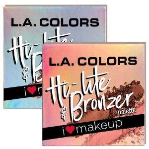 پالت هایلایتر و برنزر ال ای کالرز Beauty Booklet